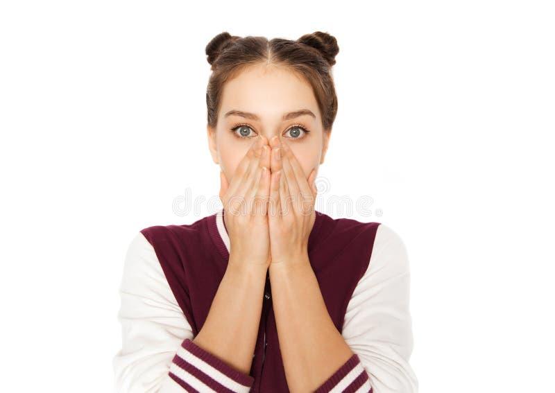 Adolescente effrayée photo stock