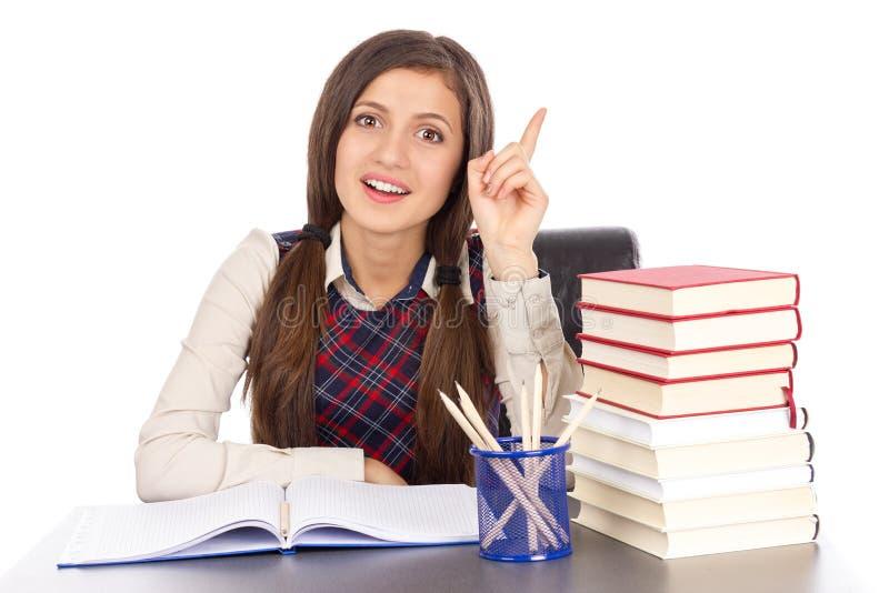 Download Adolescente Elegante En El Escritorio Que Tiene Una Idea Brillante Imagen de archivo - Imagen de educación, expresión: 41920089