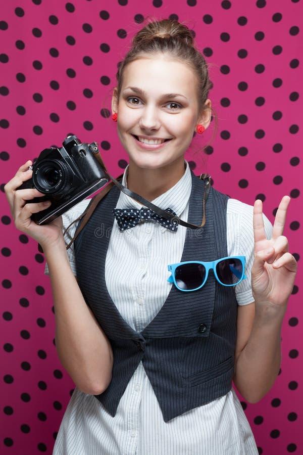 adolescente elegante sonriente foto de archivo libre de regalías