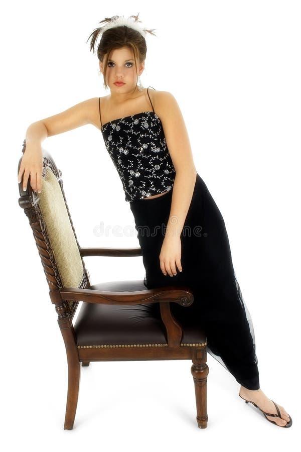 Adolescente em formal foto de stock