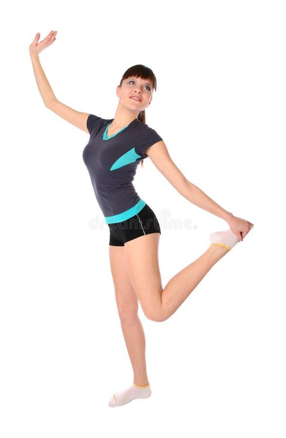 Adolescente em poses da ginástica fotografia de stock royalty free