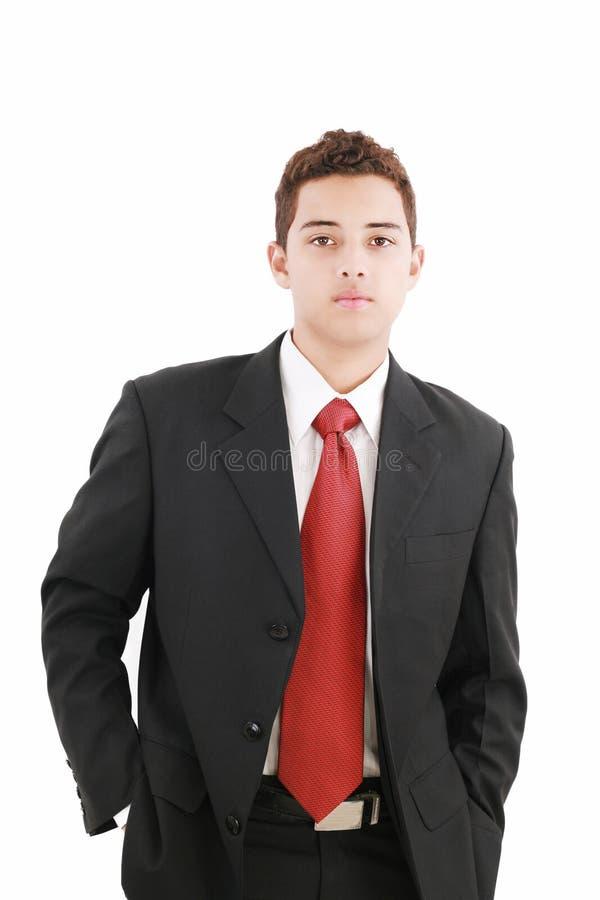 Adolescente em um terno de negócio imagens de stock royalty free