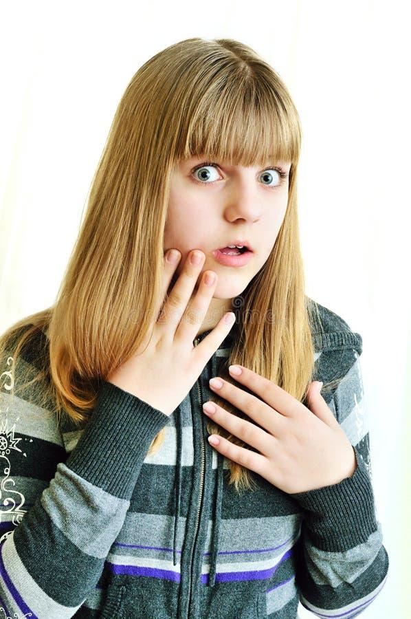 Adolescente en choque imagen de archivo