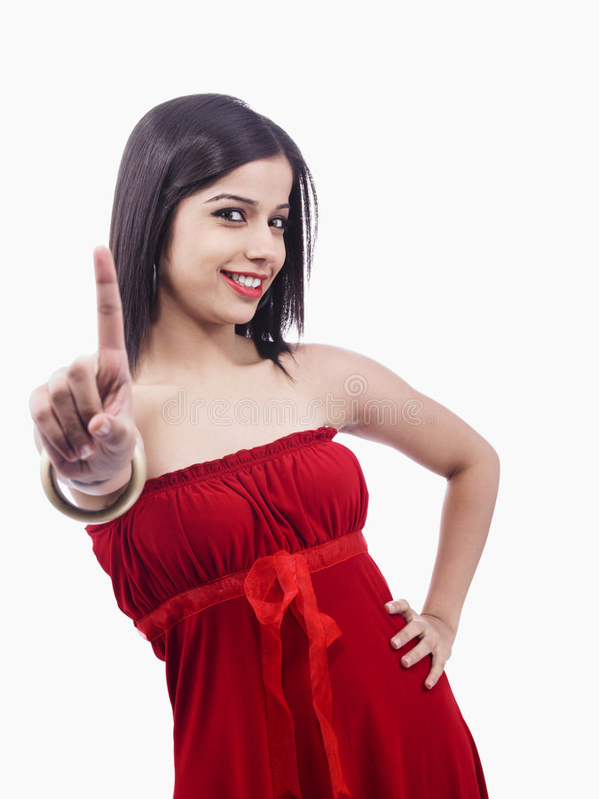 Adolescente en el fondo blanco imagen de archivo