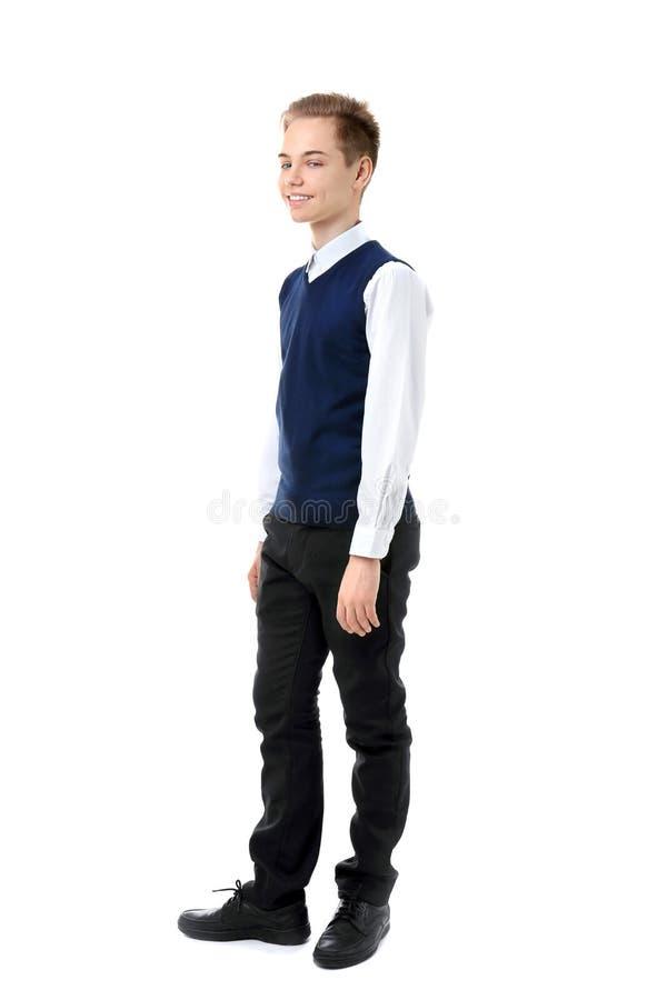 Adolescente en uniforme escolar imagen de archivo