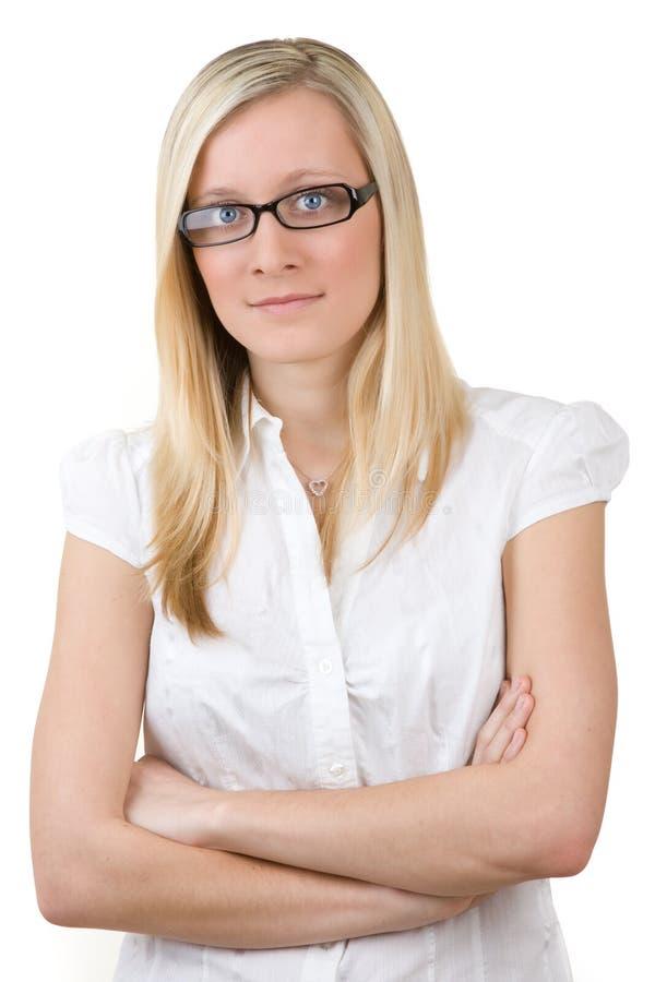 Adolescente en vidrios foto de archivo libre de regalías