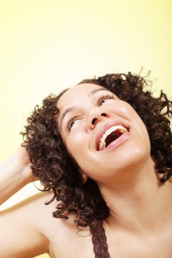Adolescente felice e ottimistico fotografia stock libera da diritti