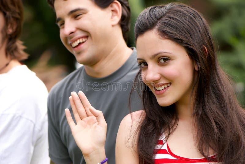 Adolescente feliz novo do retrato fotos de stock royalty free