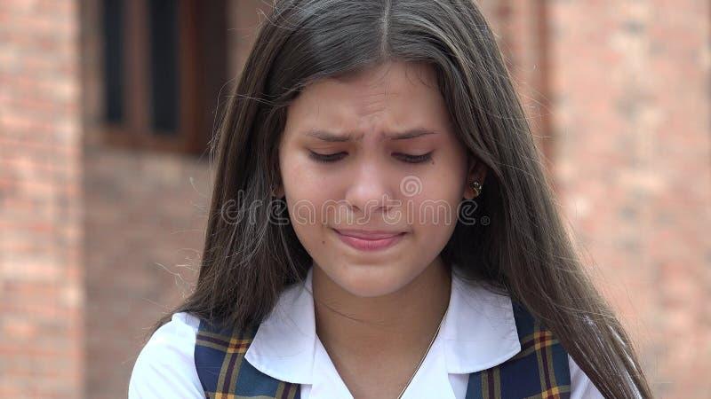 Adolescente femenino preocupante foto de archivo