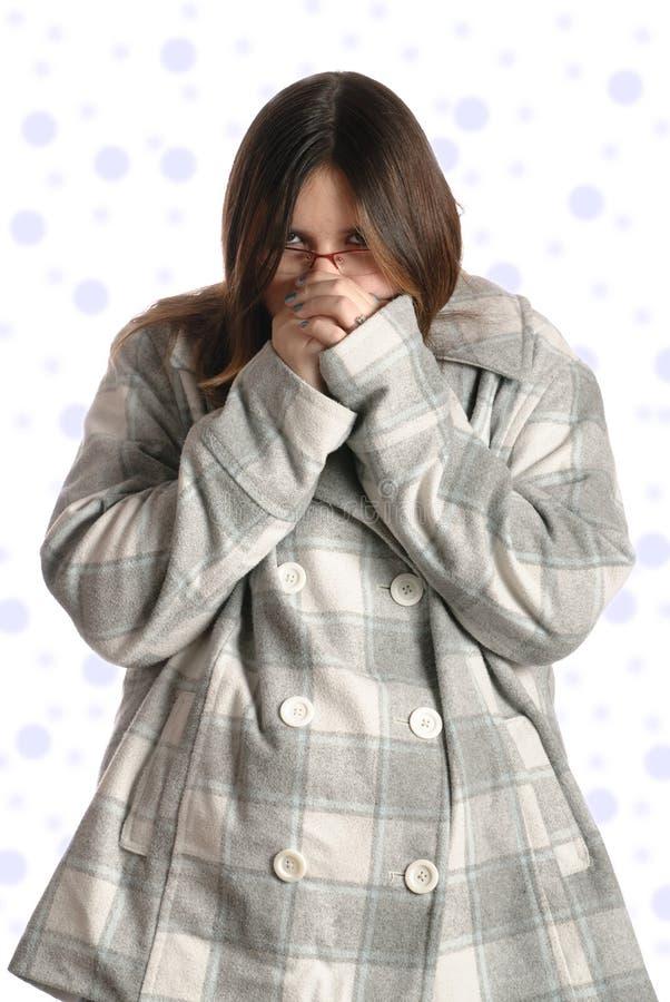 Adolescente freddo immagini stock