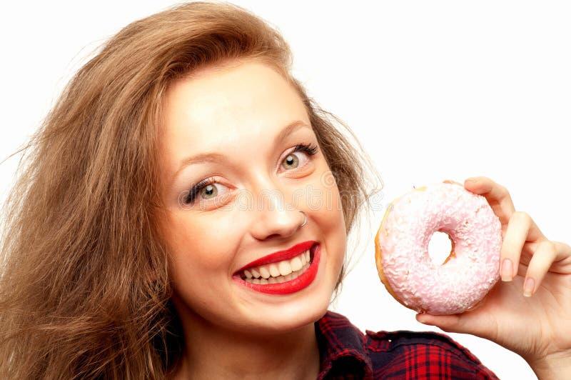 Adolescente hermoso con los anillos de espuma foto de archivo libre de regalías