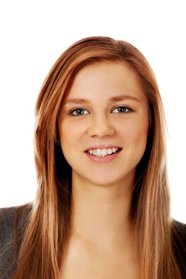 Adolescente heureuse avec de longs cheveux photos libres de droits