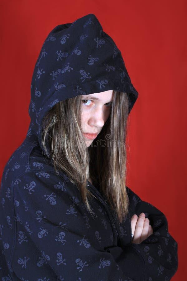 Adolescente incomodado imagem de stock royalty free