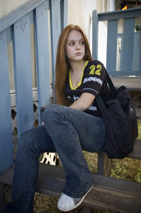 Adolescente incomodado imagens de stock royalty free