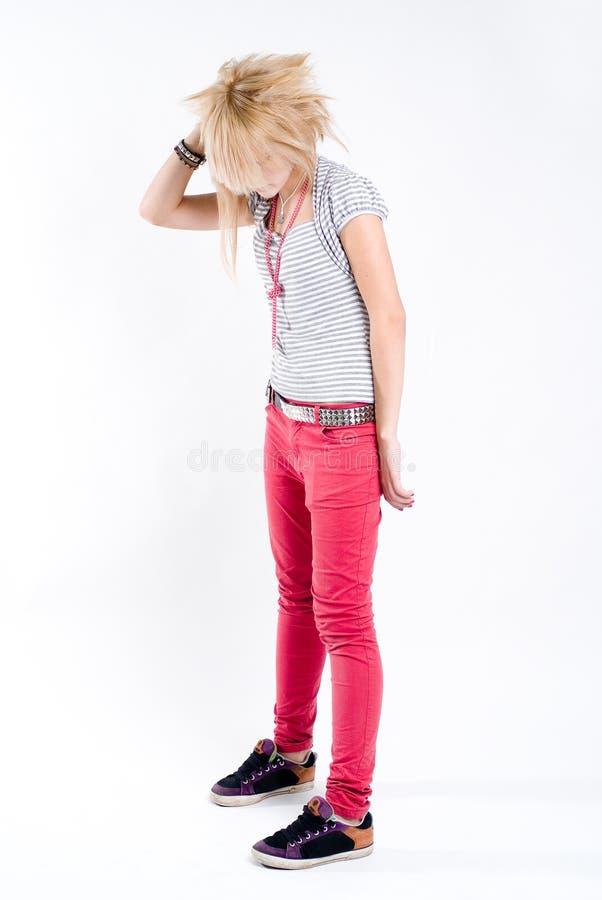 Adolescente incomodado foto de stock