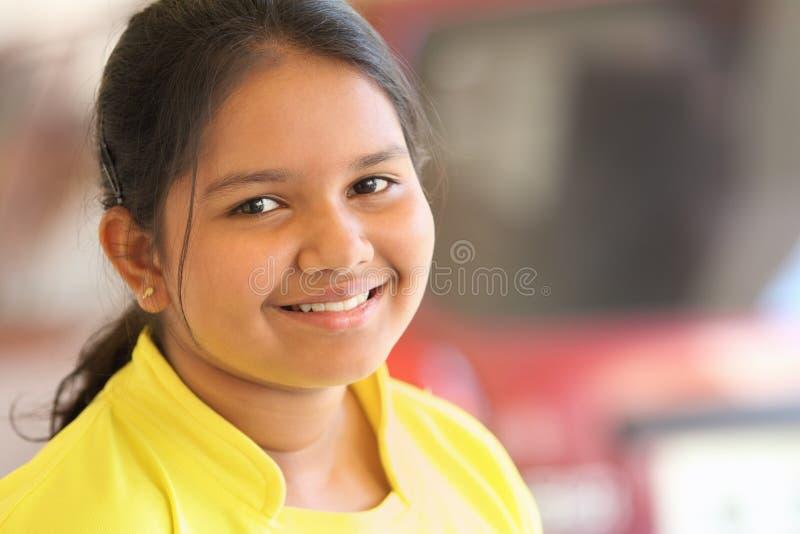 Adolescente indiano sorridente fotografia stock libera da diritti