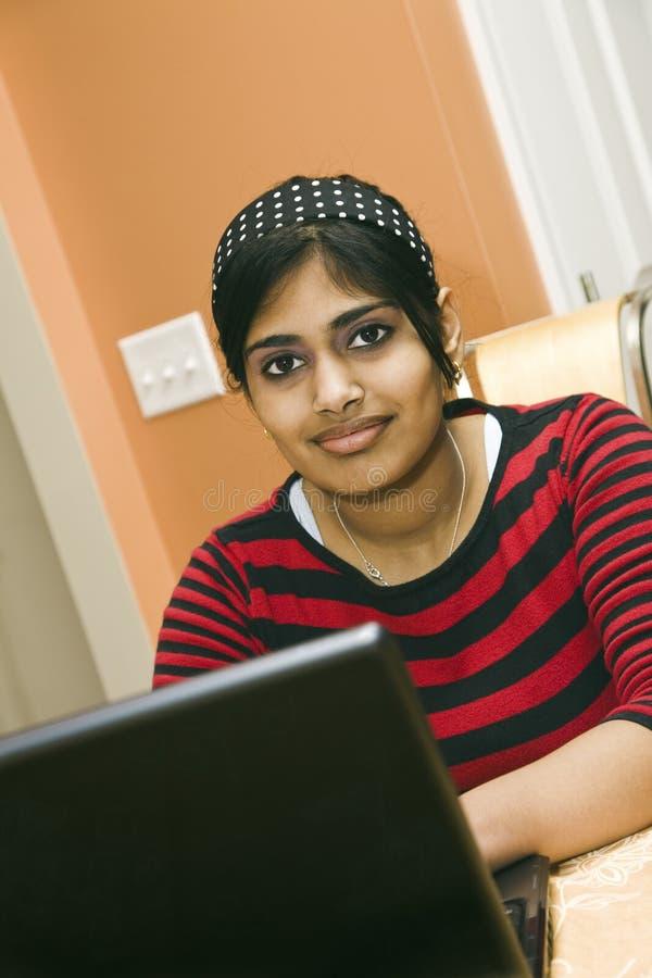 Adolescente indio fotografía de archivo