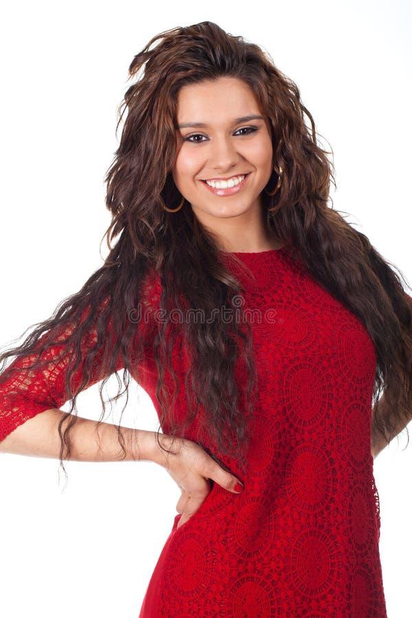 Adolescente joven con una sonrisa hermosa fotografía de archivo