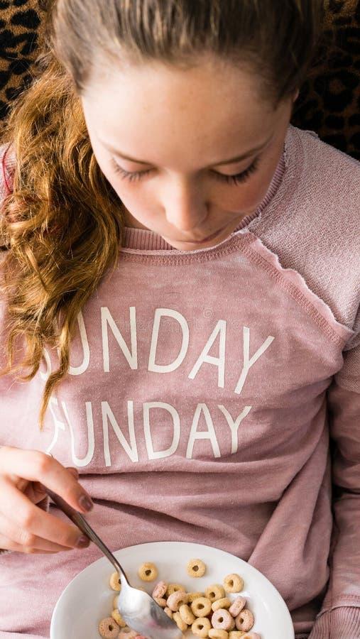 Adolescente la domenica Funday fotografia stock libera da diritti