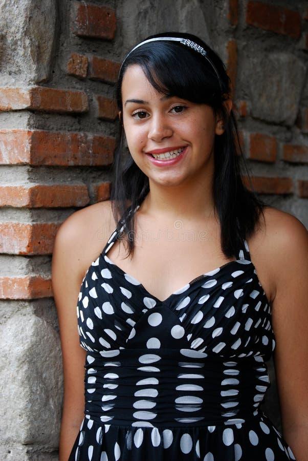 Adolescente latino-americano bonito imagem de stock royalty free