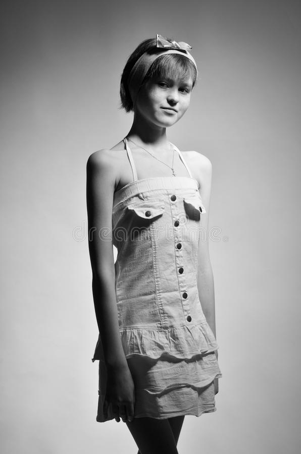 Adolescente magro foto de stock royalty free