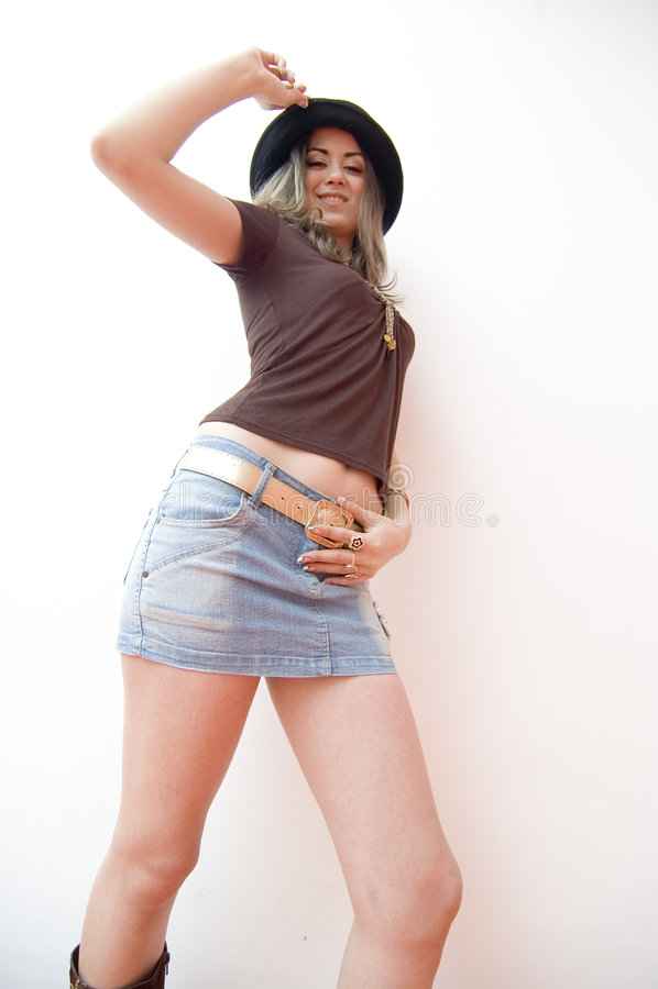 Adolescente in Miniskirt fotografie stock