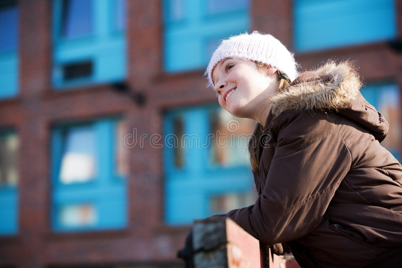 Adolescente muito feliz fotografia de stock