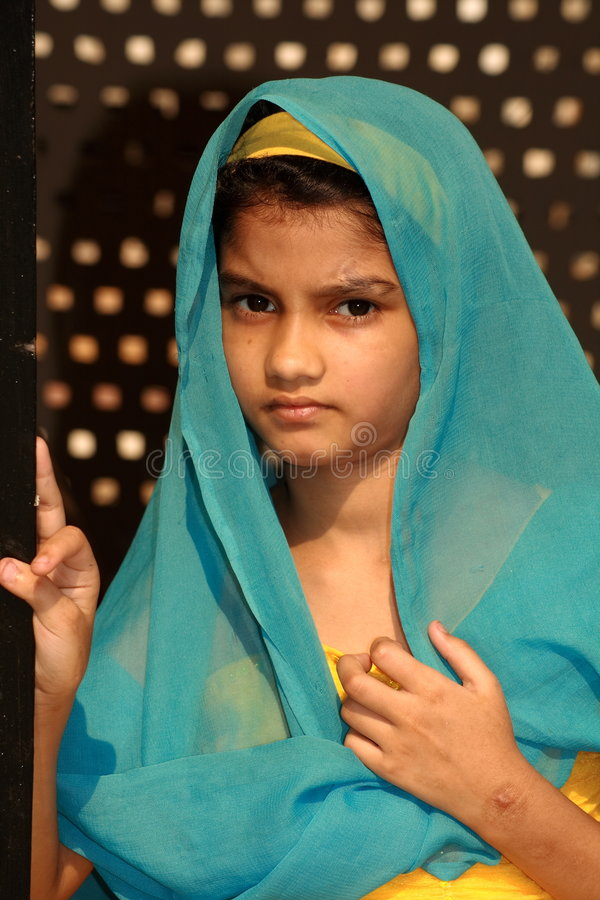 Adolescente musulmano tradizionale immagini stock