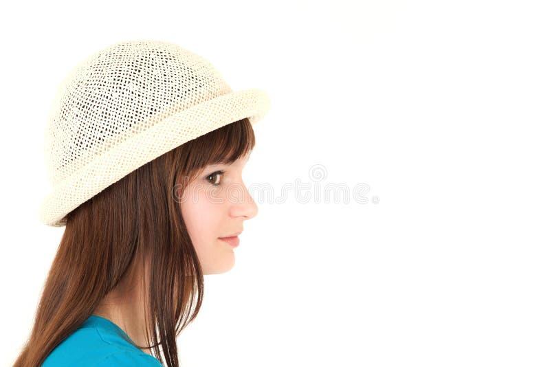 Adolescente na cabana fotos de stock