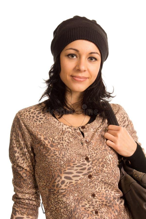 Adolescente na moda bonito fotografia de stock royalty free