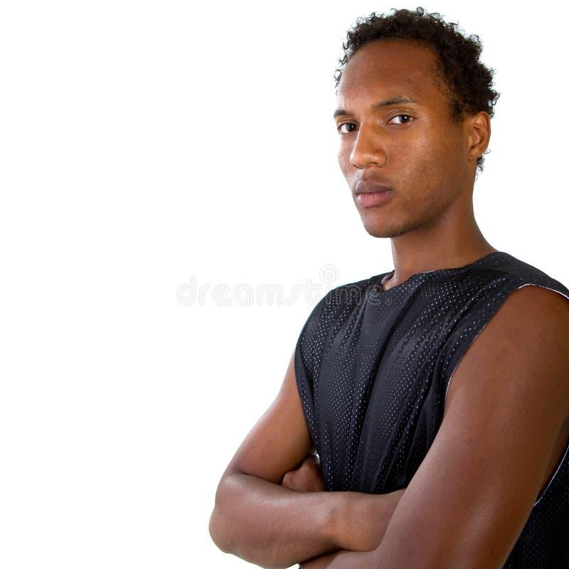 Adolescente negro fresco joven foto de archivo