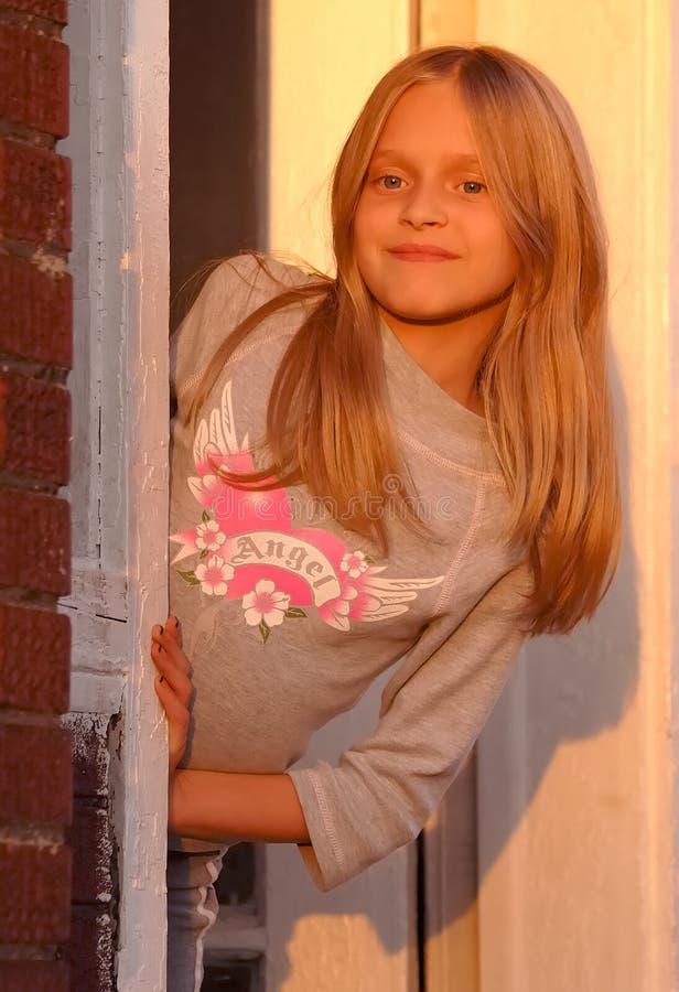 Adolescente no Sun imagem de stock