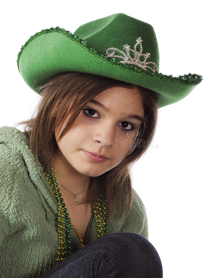 Adolescente no verde imagens de stock