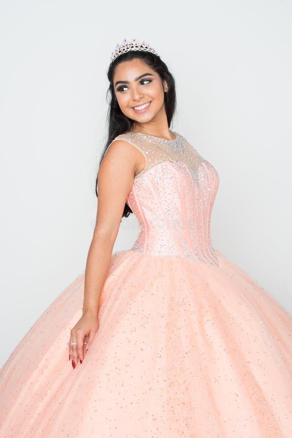 Adolescente no vestido da dança foto de stock royalty free