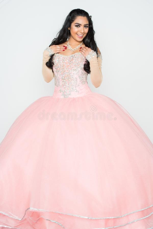 Adolescente no vestido da dança imagem de stock royalty free