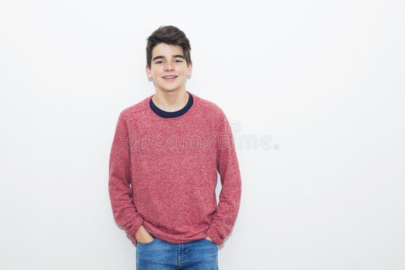 Adolescente novo isolado foto de stock royalty free