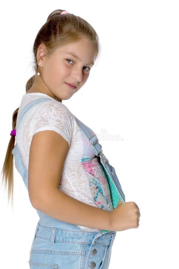 Adolescente, photo de studio images stock