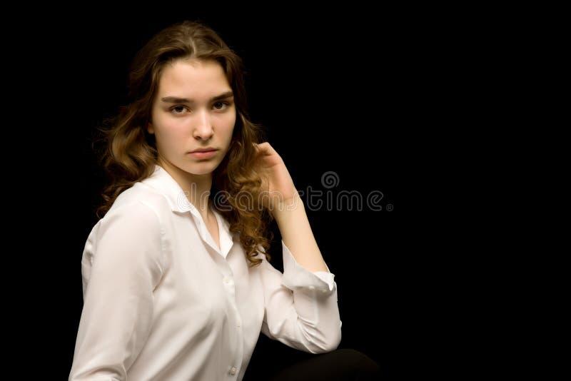 Adolescente, photo de studio photo libre de droits