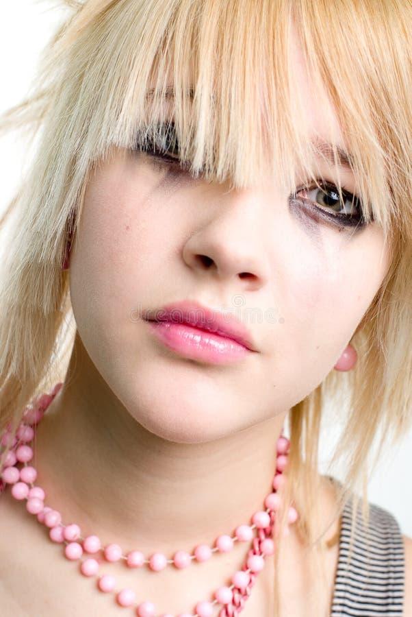 Adolescente pleurante photographie stock