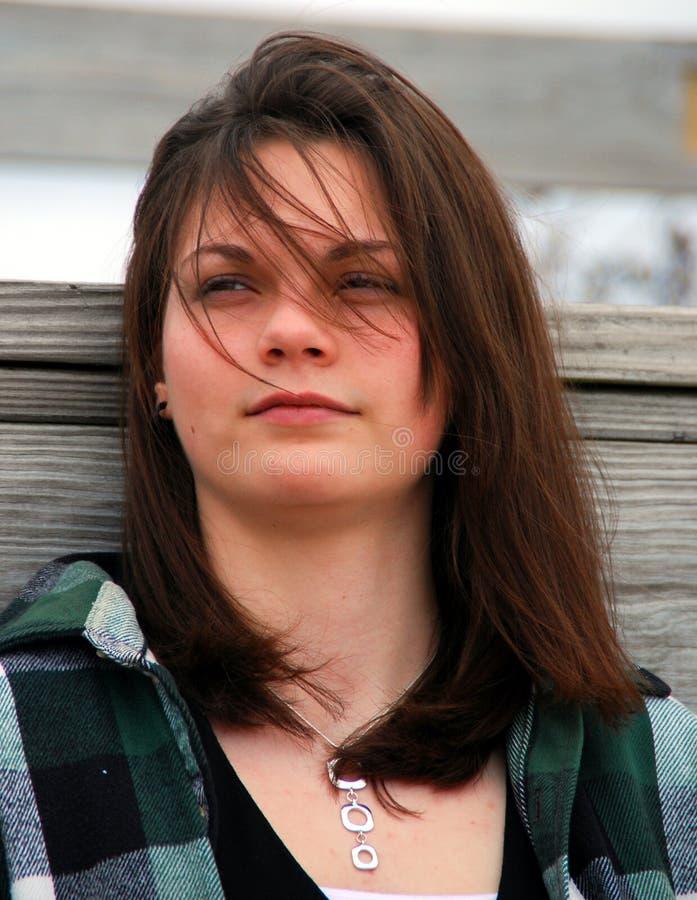 Adolescente preocupada fotos de archivo