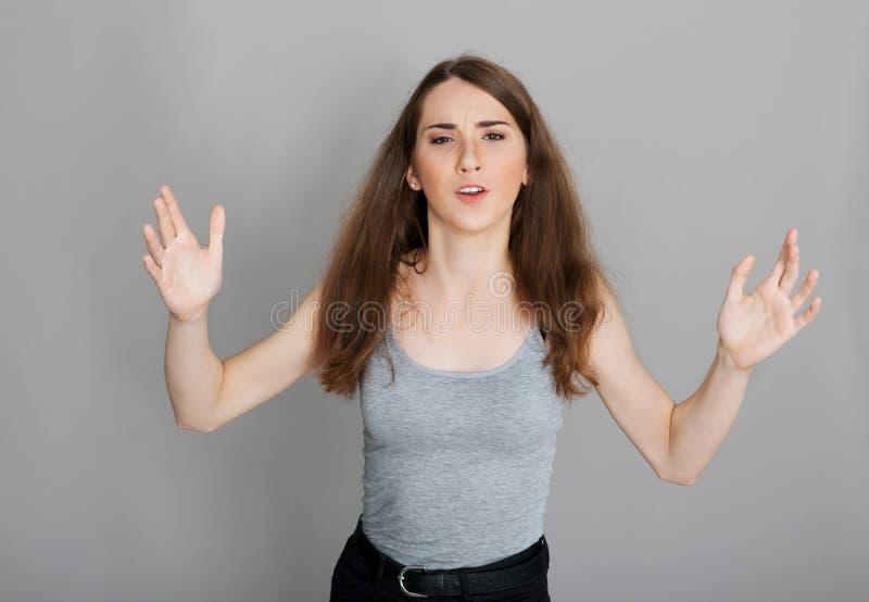 Adolescente que grita foto de archivo libre de regalías