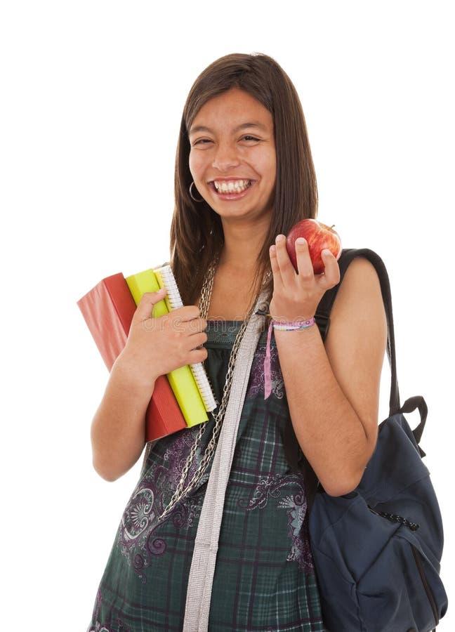 Adolescente que vai para trás à escola imagem de stock royalty free