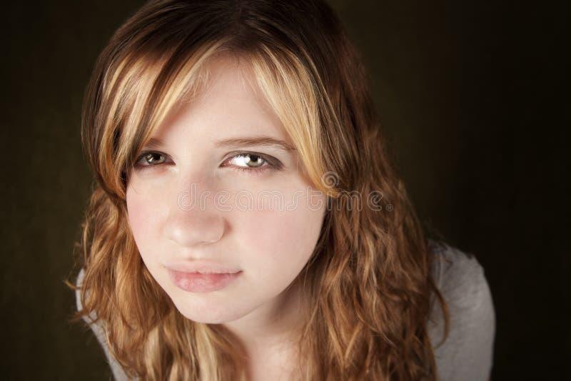 Adolescente sceptique image stock