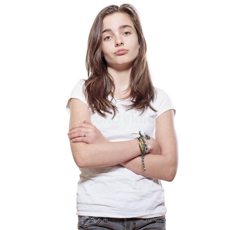 Adolescente scontroso fotografie stock