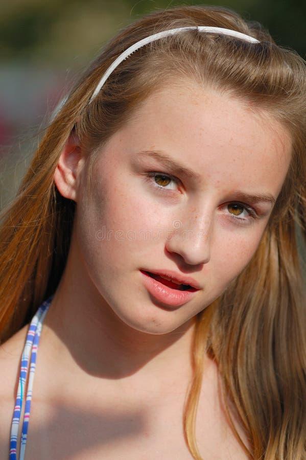 Adolescente serio immagini stock libere da diritti