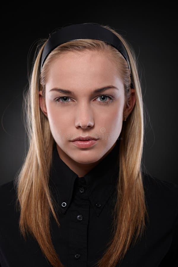 Adolescente severo fotografie stock