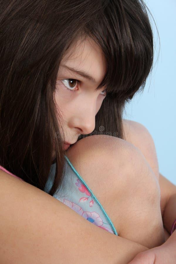 Adolescente solo imagen de archivo