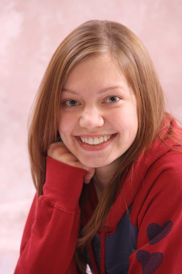 Adolescente sorridente fotografie stock libere da diritti