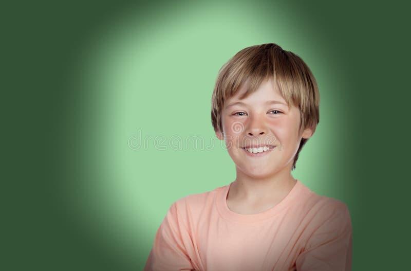 Adolescente sorridente con un gesto felice fotografie stock libere da diritti