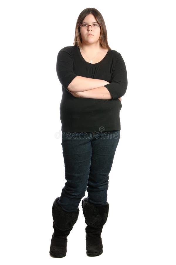 Adolescente teimoso imagem de stock